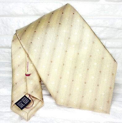 Nuova Moda Cravatta Uomo Jacquard Beige 100% Seta Nuova Made In Italy Handmade Business Una Grande Varietà Di Merci