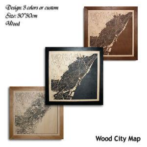 Wood-City-Map-Barcelona-Spain-Decor-Picture-Town-Village-Laser-Cut-Wall-Art