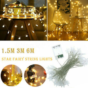 40-LED-Star-String-Lights-Fairy-Xmas-Wedding-Christmas-Party-Room-Garden-Decor
