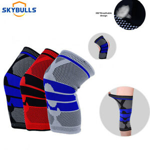 Knee Compression Sleeve Brace Support For Gym Joint Pain Arthritis Relief