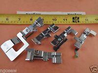 Set Of 5 Singer Serger Feet Professional Portable Coverlock 14n655,14n555,14n554