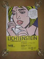 ROY LICHTENSTEIN:TATE GALLERY EXHIBITION POSTER