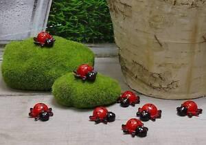 8 marienk fer mit klebepunkt k fer schwarz rot punkte streuteile k fer deko ebay. Black Bedroom Furniture Sets. Home Design Ideas