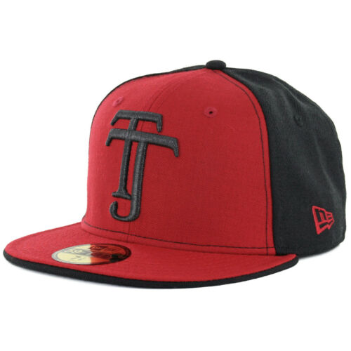 """Black//Red Mexico Soccer Cap New Era 59Fifty Club Tijuana Xolos /""""TJ/"""" Fitted Hat"""