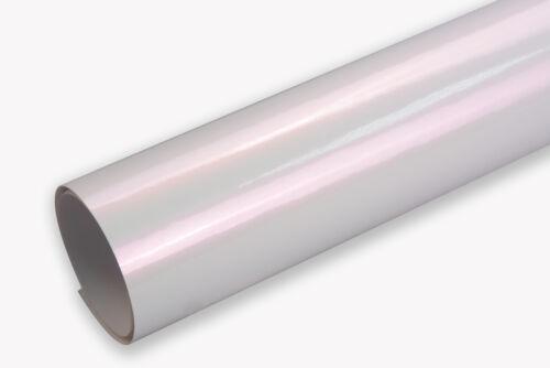 100 x 152 cm Flex auto film adhésif 13 €//m² nacre DIAPOSITIVE-pearl blanc//rose