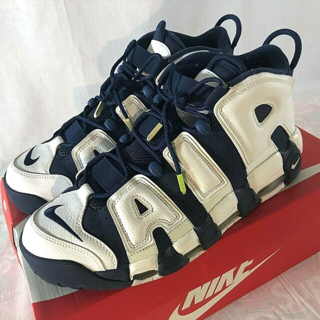 Nike Air More Uptempo Olympic 2016 Size 12 Blue White Pippen Basketball Shoes