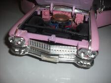1959 Cadillac Eldorado Pink Convertible MAISTO 1/18 Scale Die Cast with motion