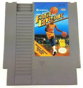 Magic-Johnson-039-s-Fast-Break-Nintendo-Entertainment-System-1990-Used-NES