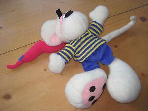 Diddl-Maus-Kuscheltier-Puppe-bub-strick-samthose-ca-34-x-23-x-15-suess-Stofftier