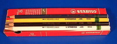 All Purpose Marking Pencils Pk 12 Wipeable Bright Stabilo Aquarellable