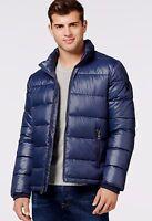 Guess Mens Blue Puffer Coat Jacket $225