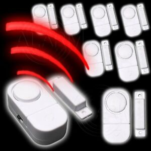 8 x Tür Fensteralarm Alarm Melder Bewegungsmelde<wbr/>r Sirenen Magnetkontakt Sensoren
