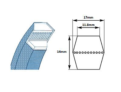 B Section Double Sided V Belts Sizes Bb75 Bb141 Belt Ebay