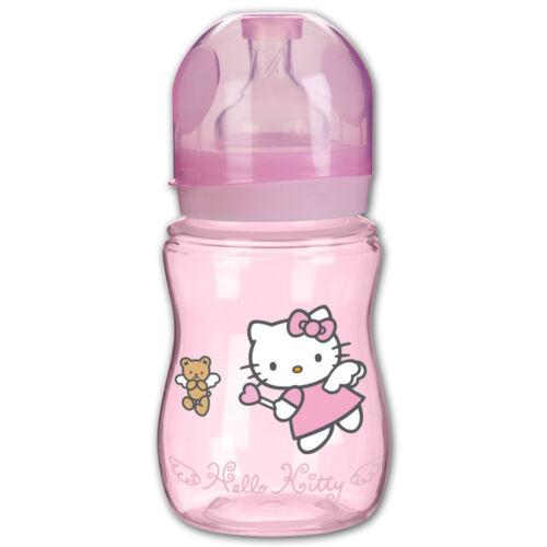 Rotho 240ml Weithalsflasche Hello Kitty Baby Kinder Babyflasche Sauger Flasche