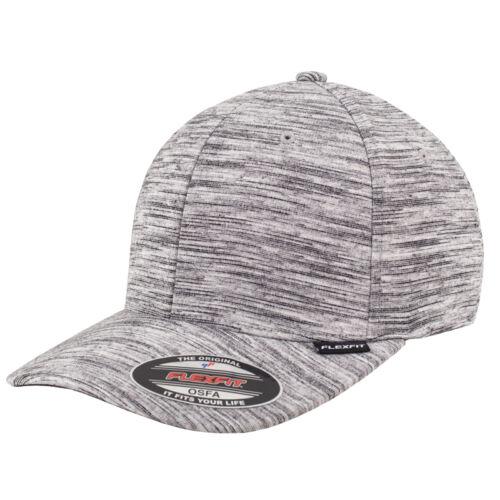 FLEXFIT STRIPES MELANGE CAP BASEBALL S//M L//XL  GRAU MELIERT STREIFEN