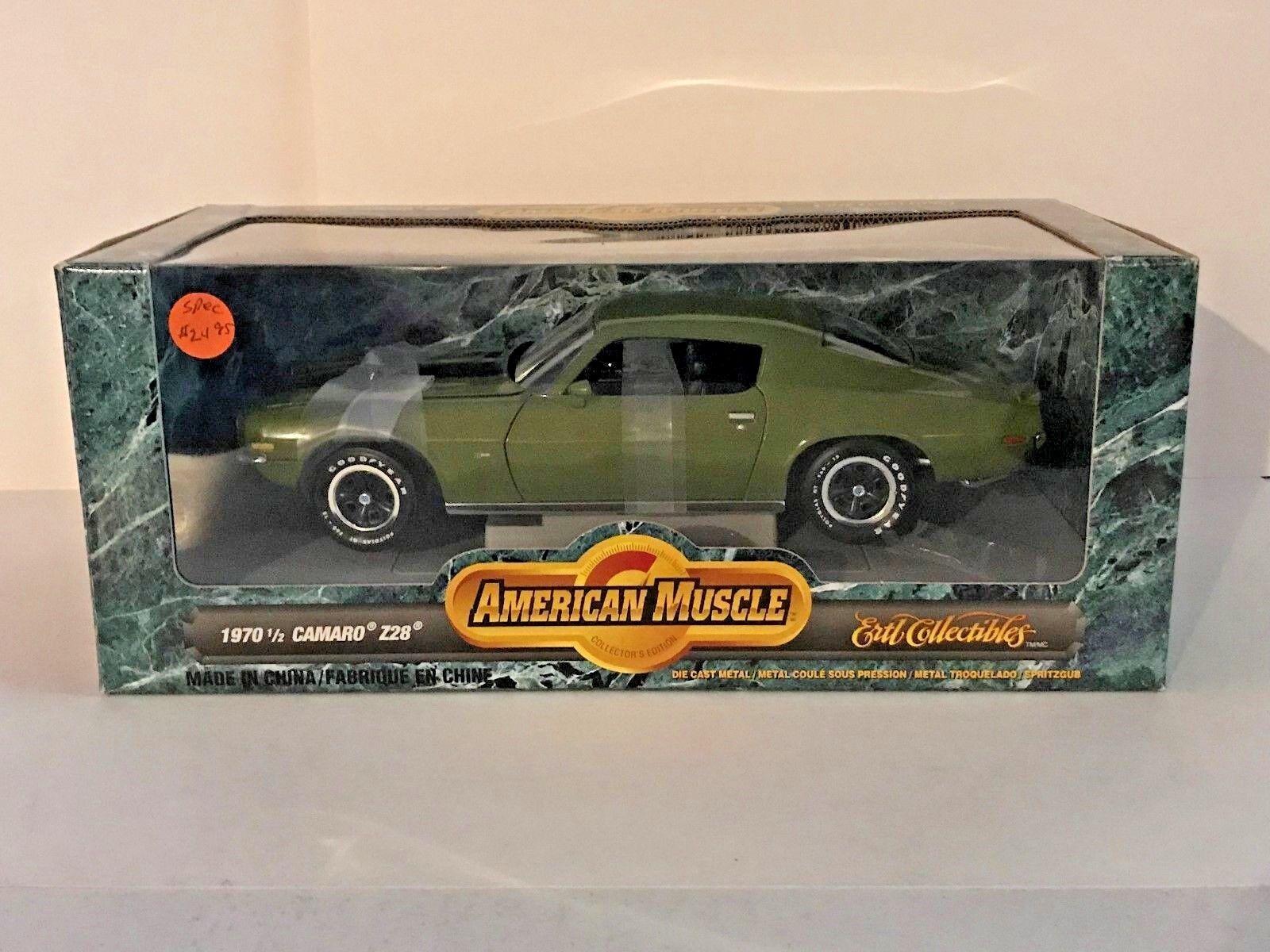 ERTL 1 18 1970 1 2 Chevy Camaro Z28 Citrus Green 7128 Olive Car