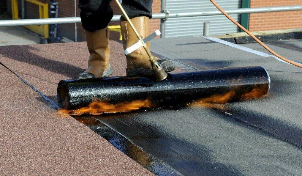 Black Mineral Felt Torch on SBS Roofing IKO Capsheet Cap Sheet 5 m ...
