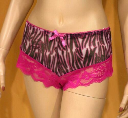 nwt BLACK n HOT PINK Panties ANIMAL n LACE Panty Ladies Lingerie PLUS SIZE 1X 8
