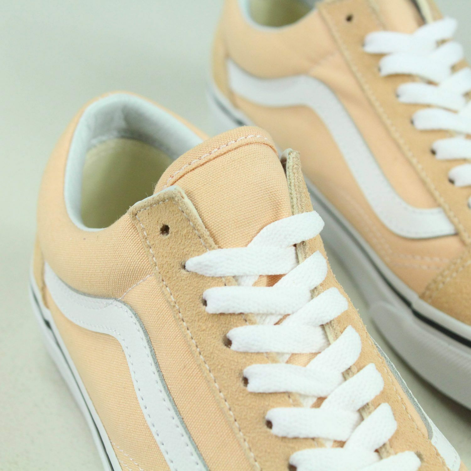 Vans Old UK Skool Trainers Shoes Bleached Apricot/White in UK Old Size 4,5,6,7,8 410f8b