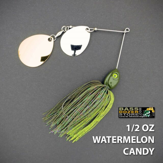 Bassdozer spinnerbaits DOUBLE THUMPER 1/2 oz WATERMELON CANDY spinner bait lure