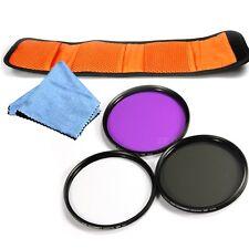 UV CPL FLD Filter slim Filterset 62mm Für DSLR Kamera & Reinigungstuch
