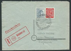 GERMANY-1948-Allied-Occupation-Registered-WEISSENHORN-SHS