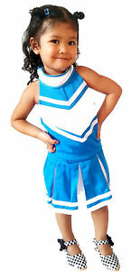 Kinder Madchen Mini Cheerleader Kostum Fasching Cosplay Kleid