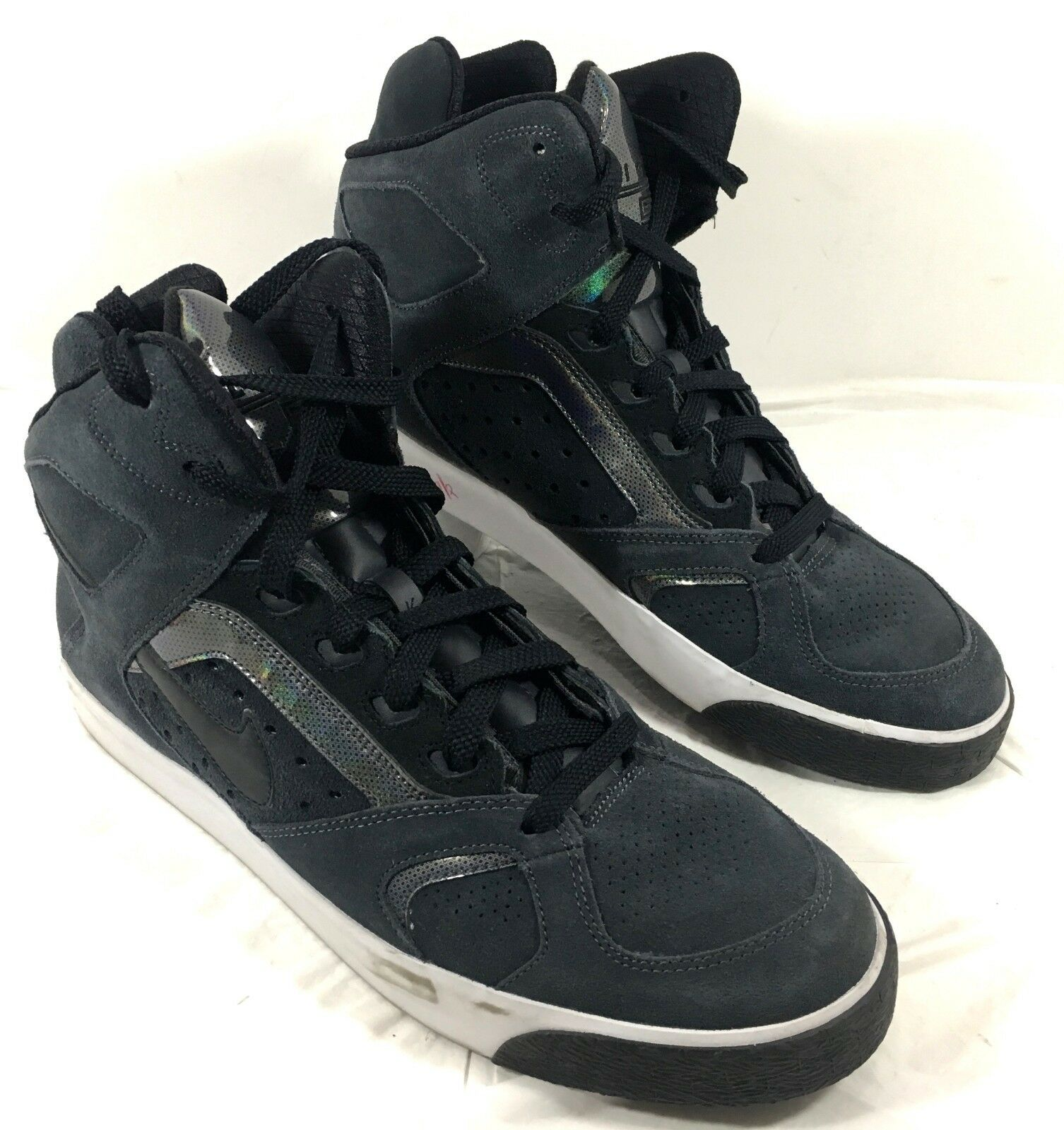 Men's Nike Auto Flight High Ankle Skate Shoes Anthracite Gray Suede Sz 13