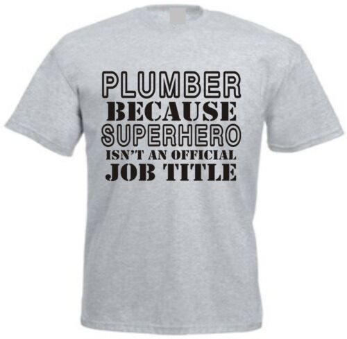 SUPERHERO PLUMBER MEN/'S T-SHIRT Funny Christmas Fathers Day Gift for Dad