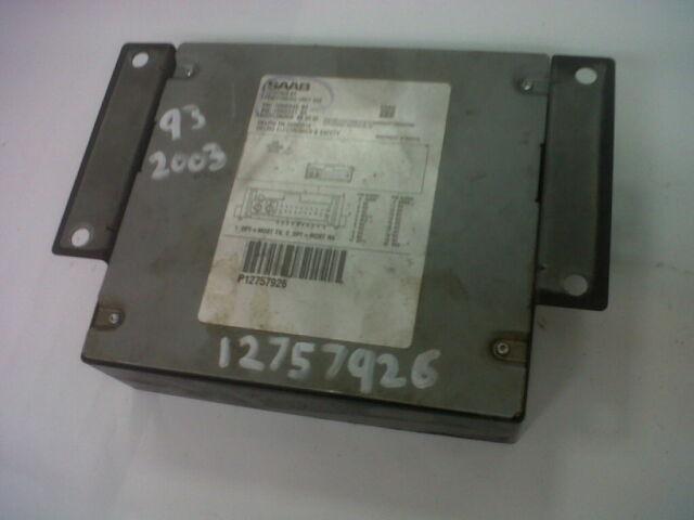 SAAB 9-3 93 ECU Electronic Control Unit Sat Nav System 2003 2004 2006 12757924