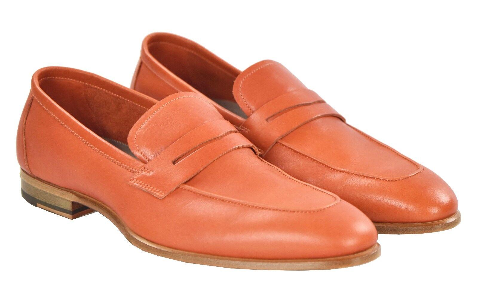 NEW KITON NAPOLI LOAFERS scarpe 100% LEATHER Dimensione 7 US 40 EU 19O22