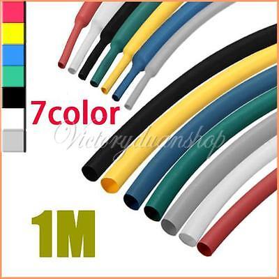 2:1 8 Color 10 Size Polyolefin Heat Shrink Tubing Tube Sleeve Sleeving Wrap 1M