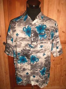 vintage-MAURO-GESANDRO-Hawaii-Hemd-oldschool-shirt-90s-hawaiihemd-L