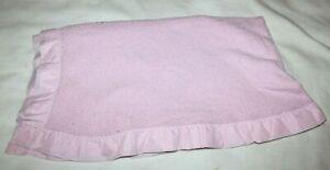 Baby Morgan Pink Blanket Waffle Weave Acrylic Vintage 43