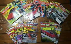 Mustang-amp-Fords-Hot-Rod-Car-Magazines-1991-2001-Lot-of-20-Carroll-Shelby