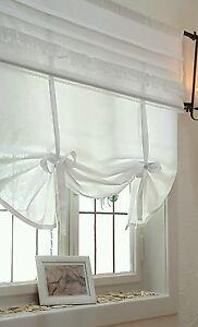 raffrollo shabby chic vivien 80 100 120 140 cm breit x 100 landhaus vintage ebay. Black Bedroom Furniture Sets. Home Design Ideas