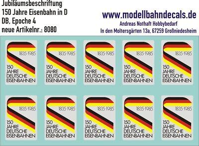 Perseverando H0 Anniversario-signet 150 Anni Deutsche Bahn-logo Nuovo Top Decals, 087-8080-et 150 Jahre Deutsche Bahn - Logo Neu Top Decals, 087-8080 It-it Mostra Il Titolo Originale Ritardare La Senilità