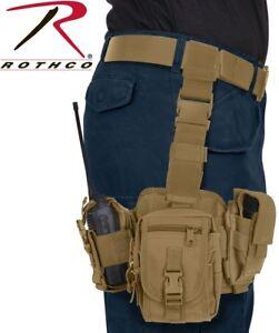 Tactical Drop Down Leg Rig MOLLE Modular GPS Cellphone Radio Tool Utility Pouch