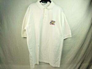 Vintage-Mens-Large-Purdue-Boilermakers-2001-Football-Rose-Bowl-Golf-Shirt-White