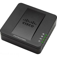 Genuine Cisco SPA112 VoIP ATA Gateway 2 FXS 1 WAN replaces PAP2T-NA w Power Cube