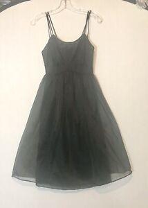 VINTAGE Black Vanity Fair Nylon Lace  Sz 32 Nightgown Gown Sleepwear Lingerie