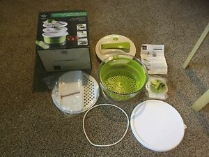 New In Box Sharper Image 4 In 1 Salad Spinner Mandoline Slicer