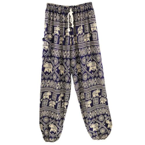 Thai Womens Harem Trousers Yoga Elephant Print Hippie Boho Alibaba Hareem Pants