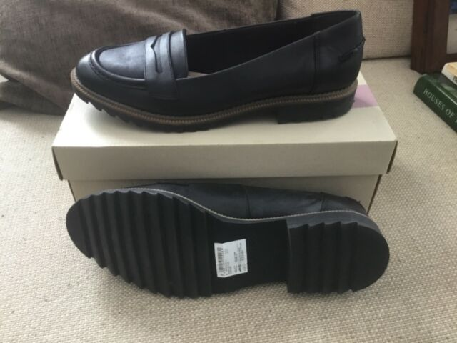 Clarks Griffin Milly Black Womens Shoes