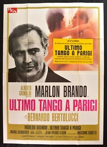 Werbeplakat Letzten Tango A Paris Bertolucci Marlon Brando Maria Schneider M302