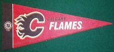 CALGARY FLAMES NHL MINI PENNANT, NEW & MADE IN USA