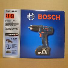 Brand New BOSCH DDB181-02 18V Li-Ion 1/2-Inch Compact Tough Drill Driver Kit