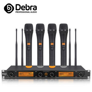 debra audio d 240 4 channel wireless microphone system with handheld microphone 634458007634 ebay. Black Bedroom Furniture Sets. Home Design Ideas