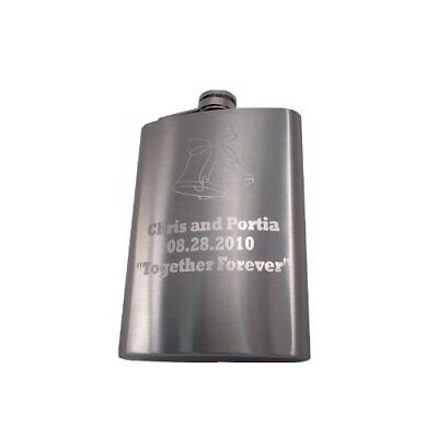 Engraved 8oz Stainless Steel Flask - Personalized