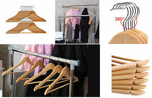 WOODEN-COAT-HANGERS-SUIT-GARMENT-CLOTHES-WARDROBE-WOOD-HANGER-WITH-TROUSER-BAR